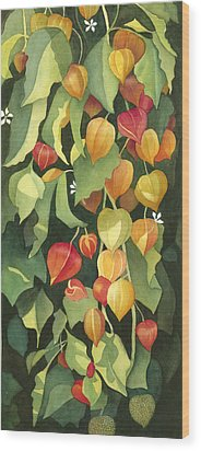 Chinese Lanterns Wood Print by Anne Havard