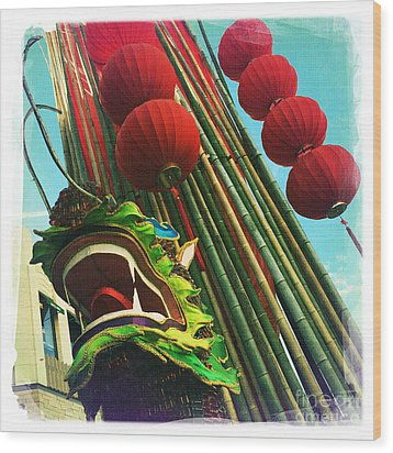 Chinese New Year Wood Print by Nina Prommer