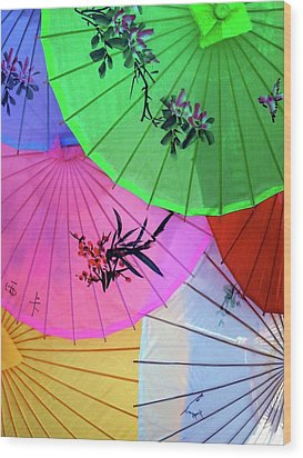 Chinese Parasols Wood Print