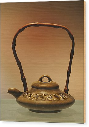Chinese Teapot - A Symbol In Itself Wood Print by Christine Till