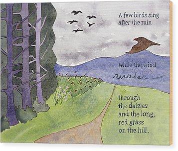 Chip Ross Park Walk Wood Print by Alexandra Schaefers