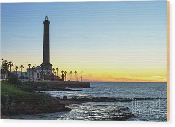Chipiona Lighthouse Cadiz Spain Wood Print by Pablo Avanzini