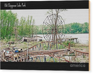 Chippewa Lake Park Now 2 Wood Print by Lila Fisher-Wenzel