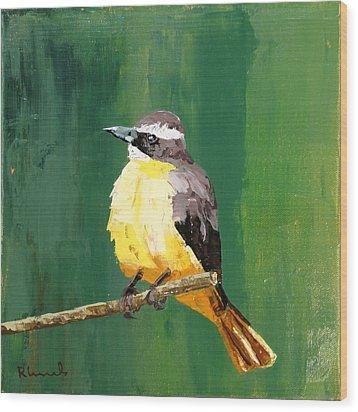 Chirping Charlie Wood Print by Nathan Rhoads