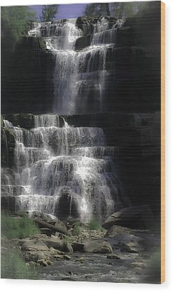 Chittenango Falls Wood Print by DigiArt Diaries by Vicky B Fuller