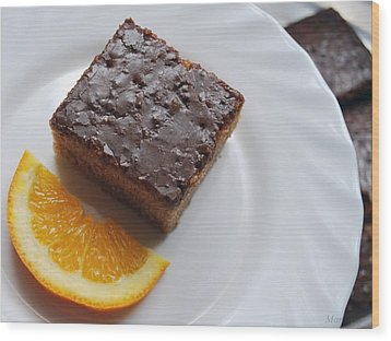 Chocolate And Orange Wood Print by Marija Djedovic