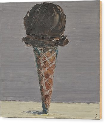 Chocolate Cone Wood Print by Lindsay Frost