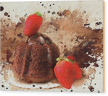 Wood Print featuring the photograph Chocolate Explosion by Darren Fisher