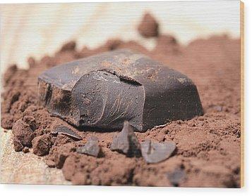 Chocolate Wood Print by Frank Tschakert