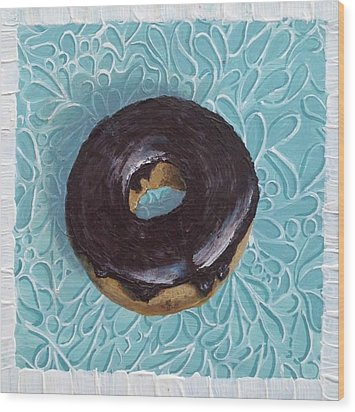 Chocolate Glazed Wood Print