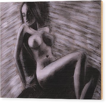 Wood Print featuring the painting Chocolate Maiden by Jarko Aka Lui Grande