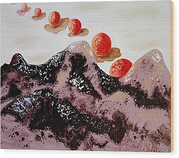 Chocolate Mountains Wood Print by Evguenia Men