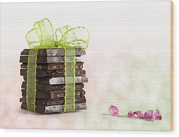 Chocolate Wood Print by Nailia Schwarz