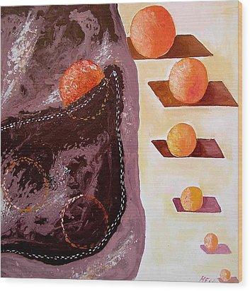 Chocolate Pocket Wood Print by Evguenia Men