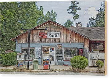 Choctaw Bluff Country Store Wood Print by Ericamaxine Price