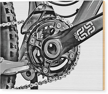 Wood Print featuring the digital art Choice Transport 1 Bw by Wendy J St Christopher