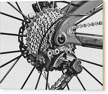 Wood Print featuring the digital art Choice Transport 2 Bw by Wendy J St Christopher