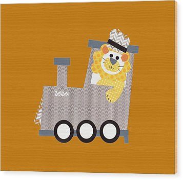Choo Choo T-shirt Wood Print by Herb Strobino