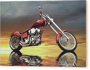 Chopper Wood Print