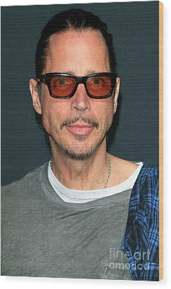 Chris Cornell Wood Print by Nina Prommer