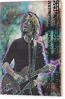 Chris Cornell - Outshined Wood Print