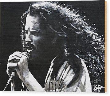 Chris Cornell Wood Print by Tom Carlton