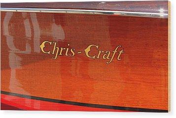Chris Craft Logo Wood Print by Michelle Calkins