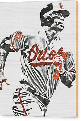 Chris Davis Baltimore Orioles Pixel Art Wood Print by Joe Hamilton