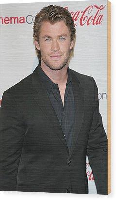 Chris Hemsworth In Attendance For 2011 Wood Print by Everett