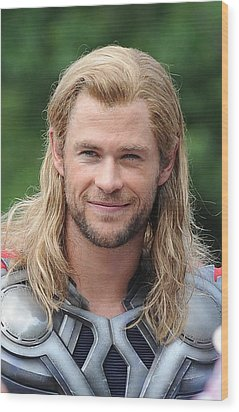 Chris Hemsworth On Location For The Wood Print by Everett