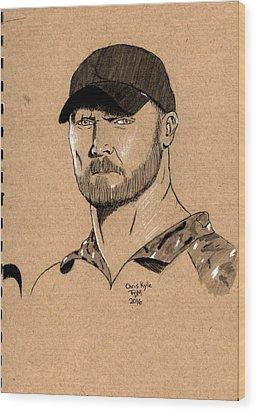Chris Kyle Wood Print