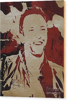 Chris Martin Coldplay Wood Print