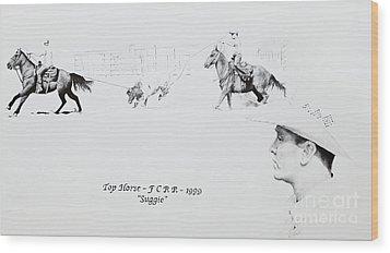 Chris Moore Suggie Wood Print by Tracy L Teeter