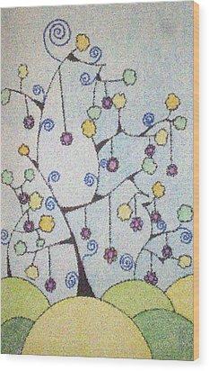 Chrismas Magic Wood Print by Gousalya Siva