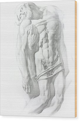 Wood Print featuring the drawing Christ 1 by Valeriy Mavlo