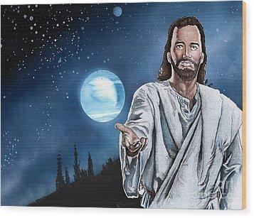 Christ At Night Wood Print by Bill Richards