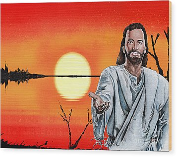 Christ At Sunrise Wood Print by Bill Richards