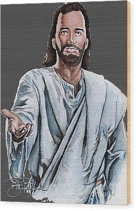 Christ Wood Print by Bill Richards