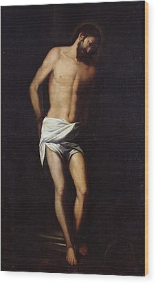 Christ Bound To The Column Wood Print by Alonso Cano