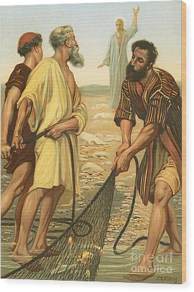 Christ Calling The Disciples Wood Print by Philip Richard Morris