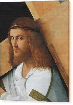 Christ Carrying The Cross Wood Print by Giovanni Bellini