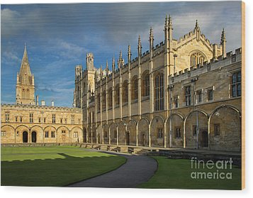 Wood Print featuring the photograph Christ Church College II by Brian Jannsen