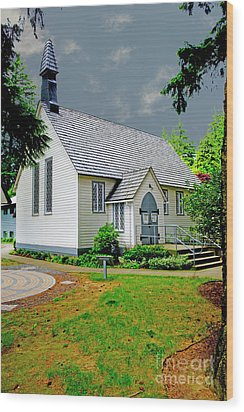 Wood Print featuring the photograph Christ Church by Rod Wiens