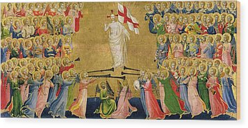 Christ Glorified In The Court Of Heaven Wood Print by Fra Angelico