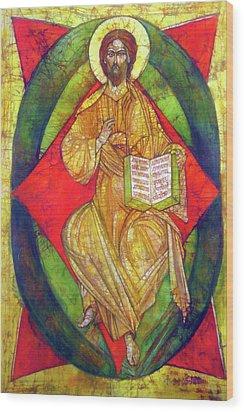 Christ In Majesty I Wood Print by Tanya Ilyakhova