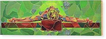 Christ In Stained Glass Wood Print by Kevin Davidson