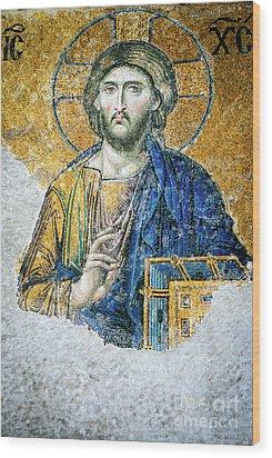 Christ Pantocrator Wood Print