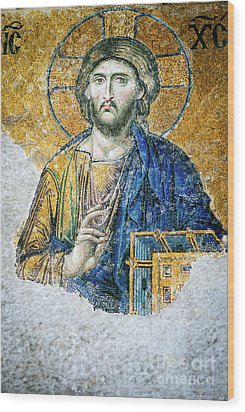 Christ Pantocrator Wood Print by Dean Harte