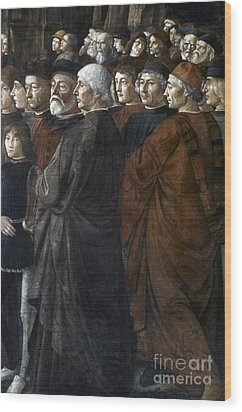 Christ, Peter And Andrew Wood Print by Granger