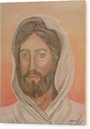 Wood Print featuring the painting Christ by Quwatha Valentine